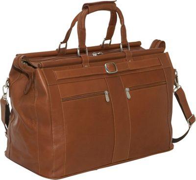 Piel Leather Carpet Bag - Saddle