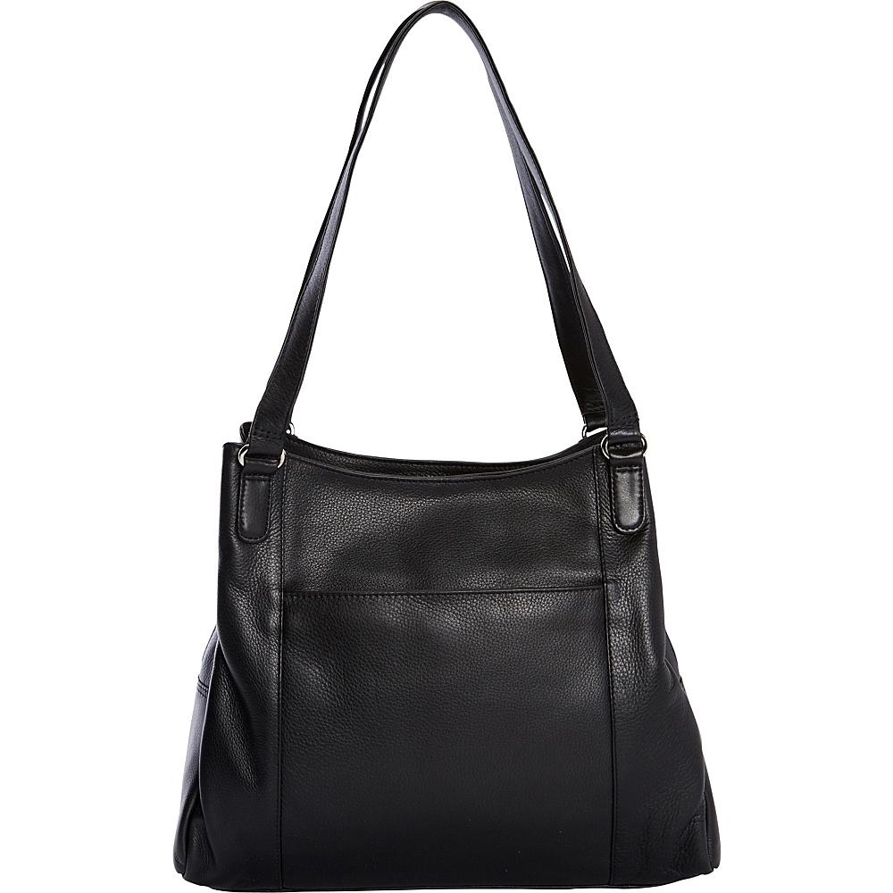 Derek Alexander Large North/South Tote Black - Derek Alexander Leather Handbags - Handbags, Leather Handbags