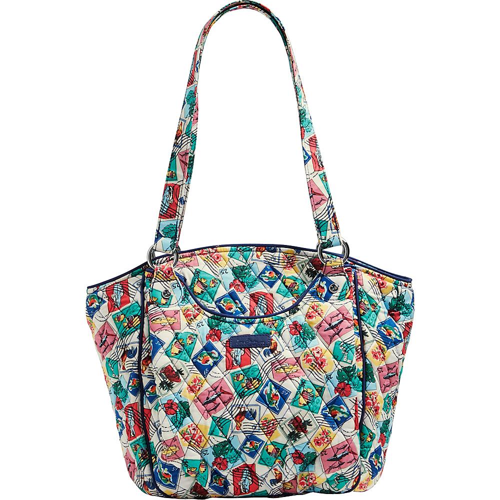 Vera Bradley Glenna Tote- Retired Prints Cuban Stamps - Vera Bradley Fabric Handbags - Handbags, Fabric Handbags