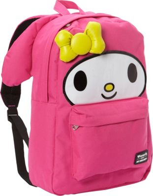 Loungefly My Melody Large Face Backpack Pink - Loungefly Everyday Backpacks