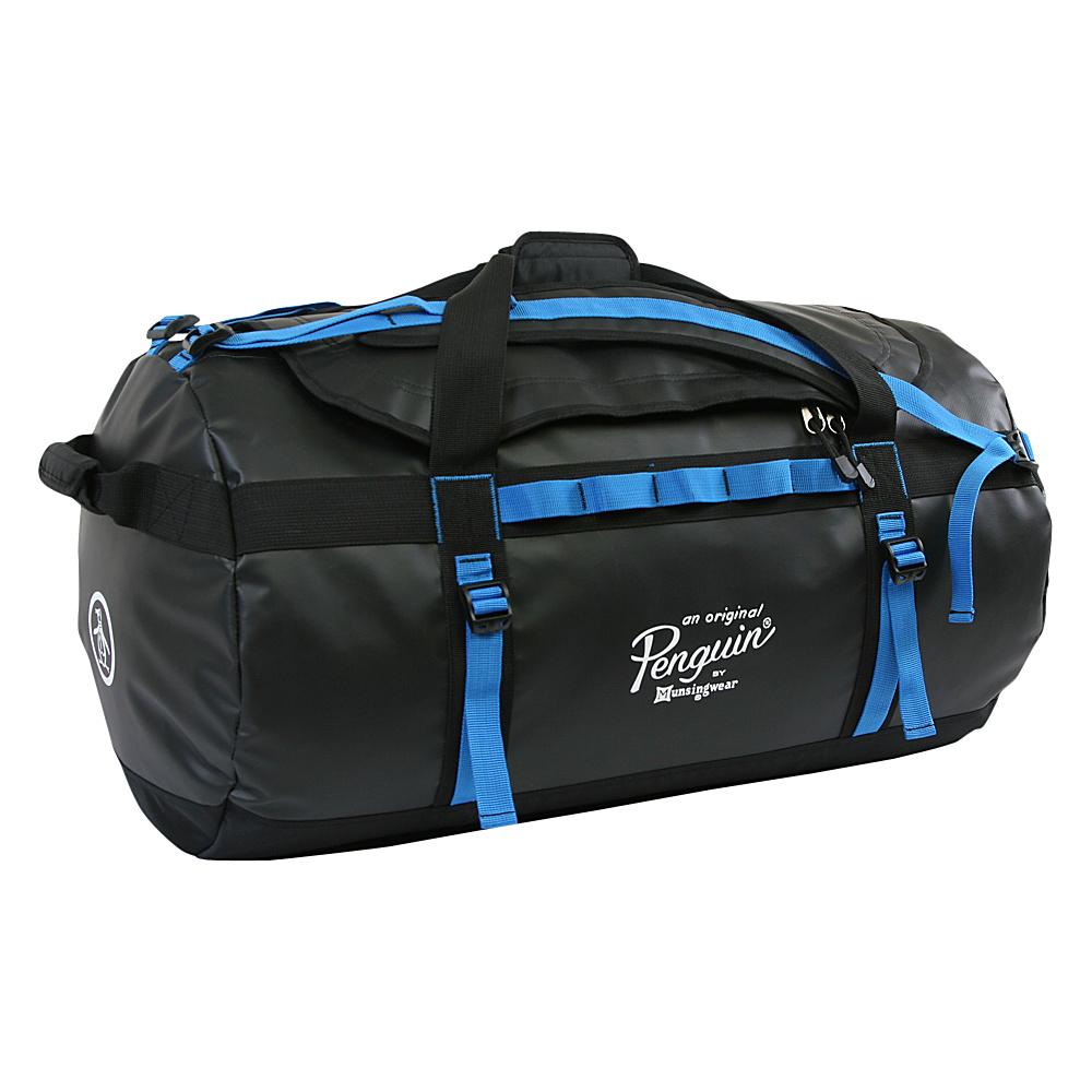 Original Penguin Luggage Compass Water-Resistant 2-in-1 Large Duffel/Backpack Black/Blue - Original Penguin Luggage Rolling Duffels