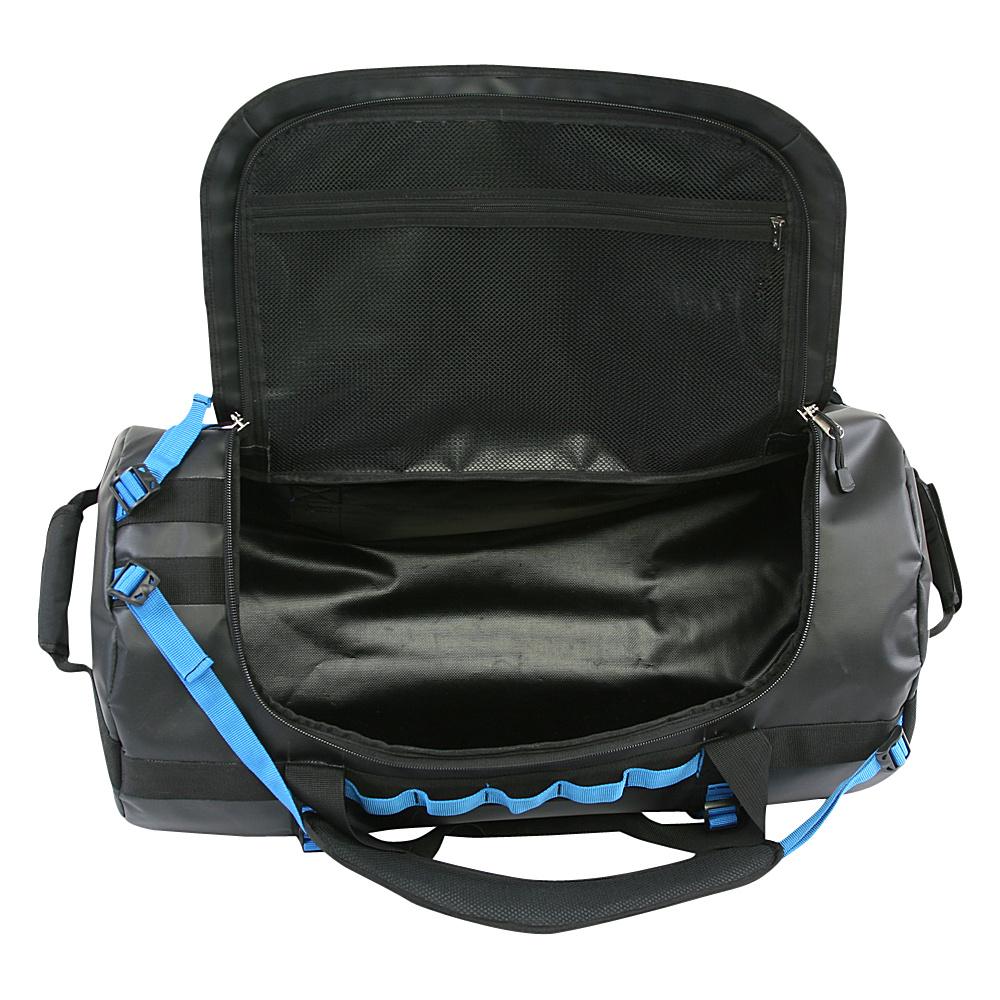 Original Penguin Luggage Compass Water-Resistant 2-in-1 Large Duffel/Backpack Black/Grey - Original Penguin Luggage Rolling Duffels
