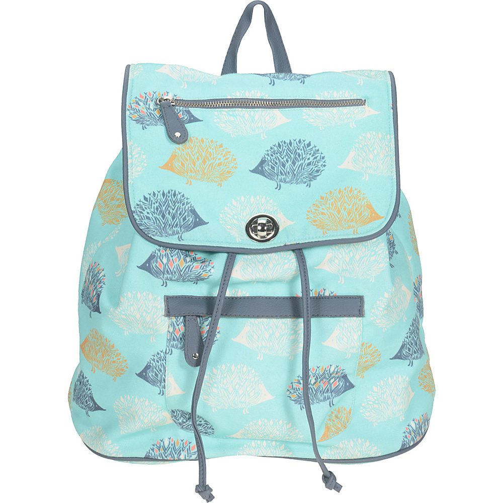 Capri Designs Sarah Watts Slouch Backpack Hedgehog Capri Designs Fabric Handbags