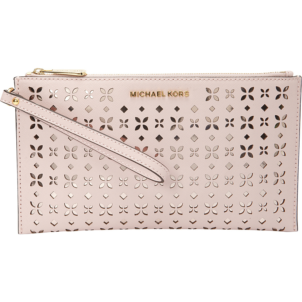 MICHAEL Michael Kors Jet Set Travel Large Zip Clutch Blossom/Ballet - MICHAEL Michael Kors Designer Handbags