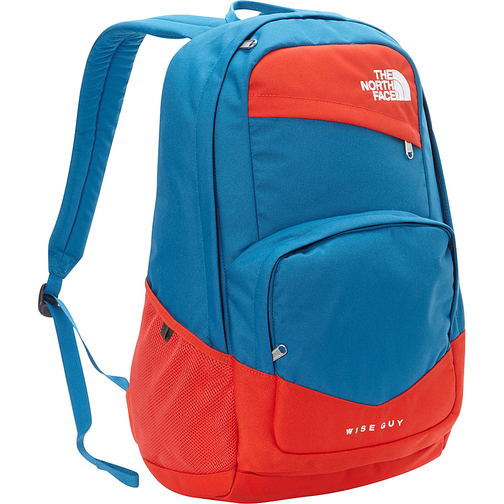 The North Face Wise Guy Backpack Banff Blue Fiery Red The North Face Everyday Backpacks
