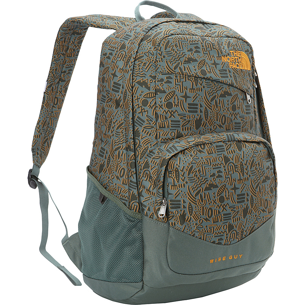 The North Face Wise Guy Backpack Duck Green Iconversational Print The North Face Everyday Backpacks
