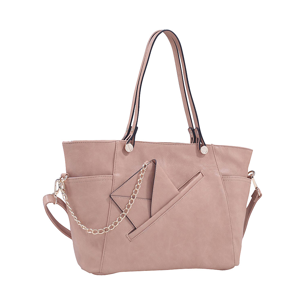 MKF Collection Ramona Designer Tote Bag Light Tan MKF Collection Manmade Handbags