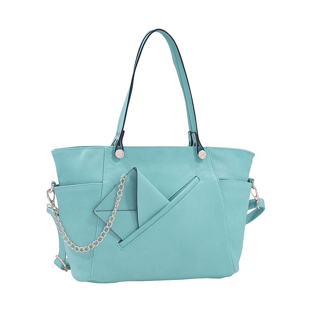 MKF Collection Ramona Designer Tote Bag Mint MKF Collection Manmade Handbags