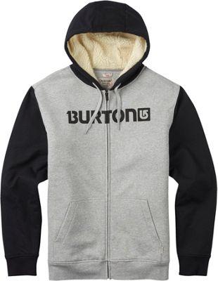 Burton Mens Fireside Full-Zip Hoodie XL - Gray Heather - Burton Men's Apparel