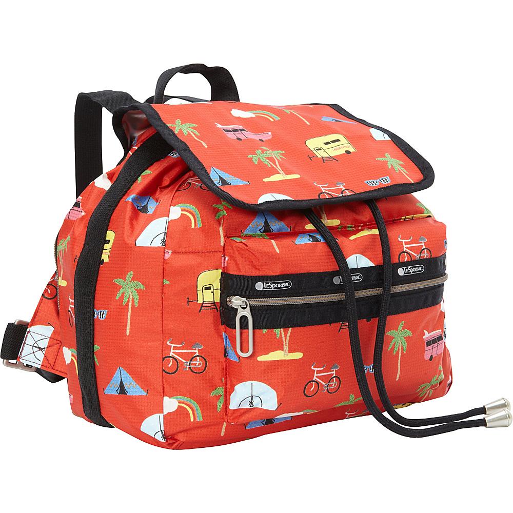 LeSportsac Mini Voyager Backpack Roadtrip Vacation LeSportsac Fabric Handbags