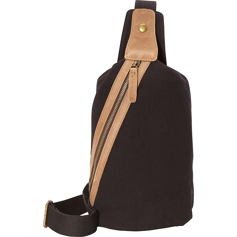 Vagabond Traveler Fashion Style Canvas Chest Pack Black - Vagabond Traveler Waist Packs - Backpacks, Waist Packs
