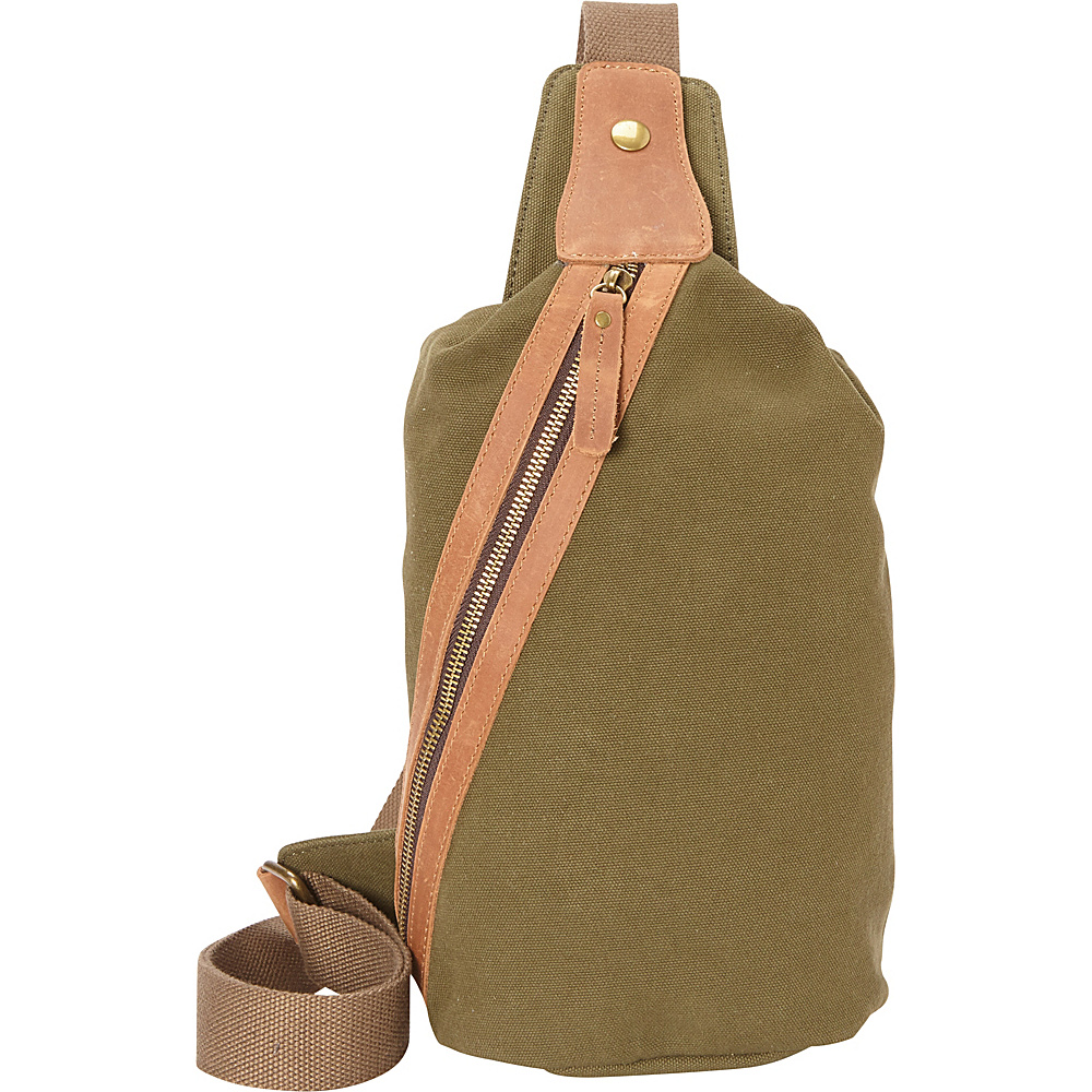 Vagabond Traveler Fashion Style Canvas Chest Pack Green - Vagabond Traveler Waist Packs - Backpacks, Waist Packs