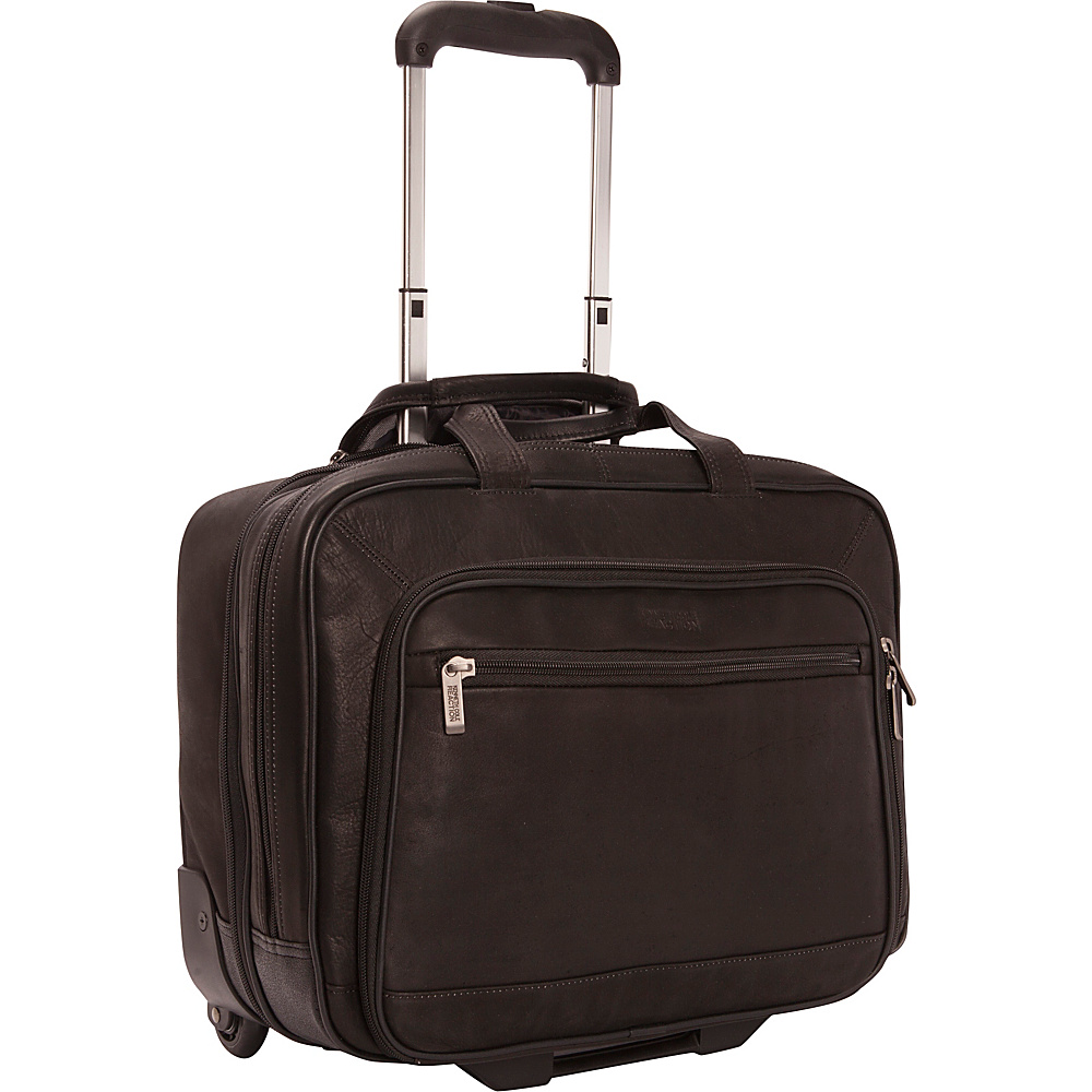 Kenneth Cole Reaction Wheel Be Okay Colombian Leather Wheeled Computer Portfolio Black Kenneth Cole Reaction Wheeled Business Cases