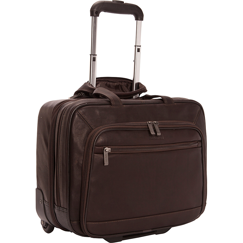 Kenneth Cole Reaction Wheel Be Okay Colombian Leather Wheeled Computer Portfolio Brown Kenneth Cole Reaction Wheeled Business Cases