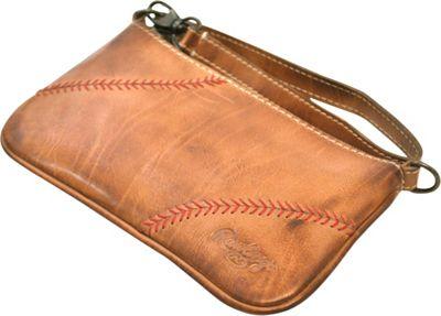 Rawlings Baseball Stitch Wristlet Tan - Rawlings Leather Handbags