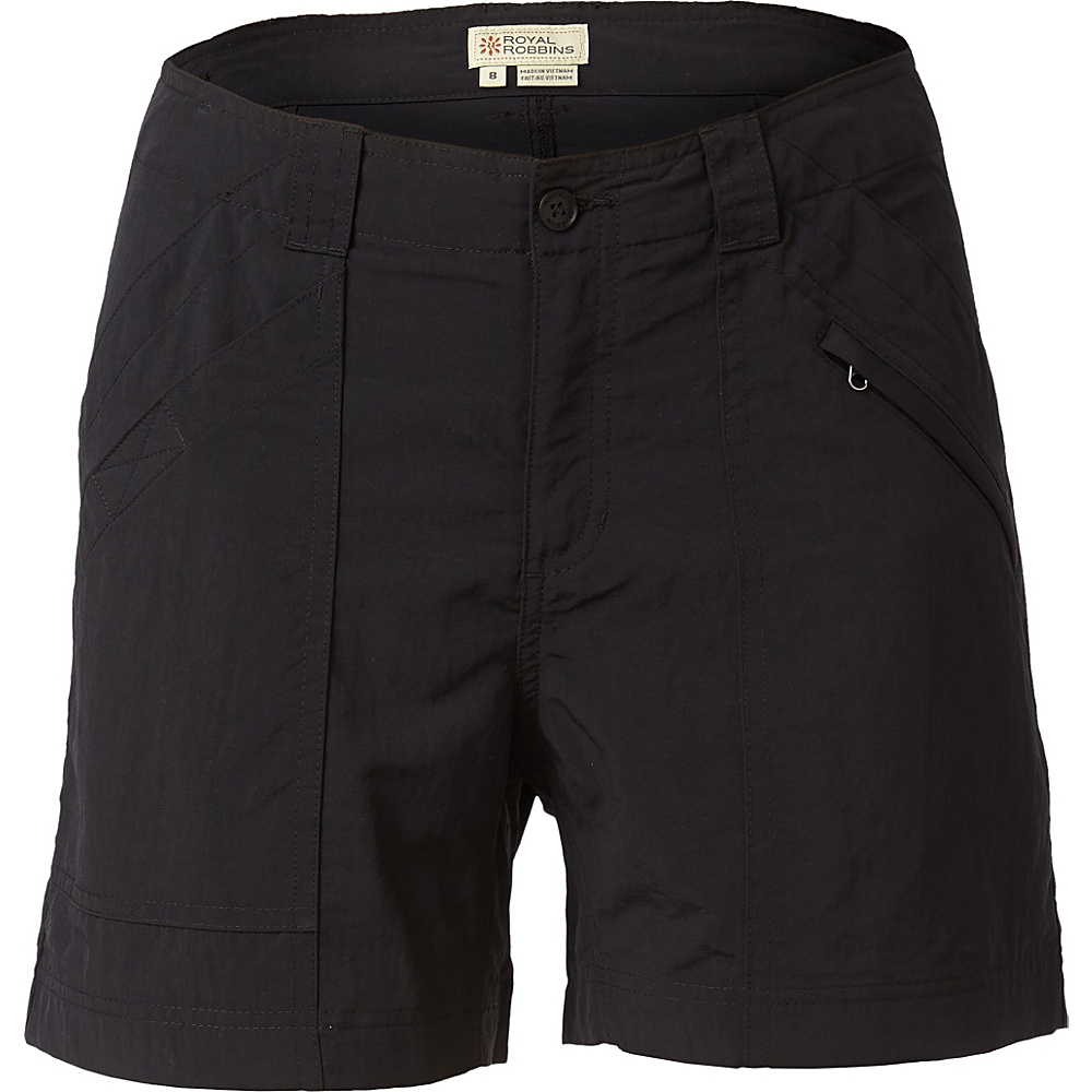 Royal Robbins Womens Backcountry Shorts 8 - Jet Black - Royal Robbins Womens Apparel - Apparel & Footwear, Women's Apparel