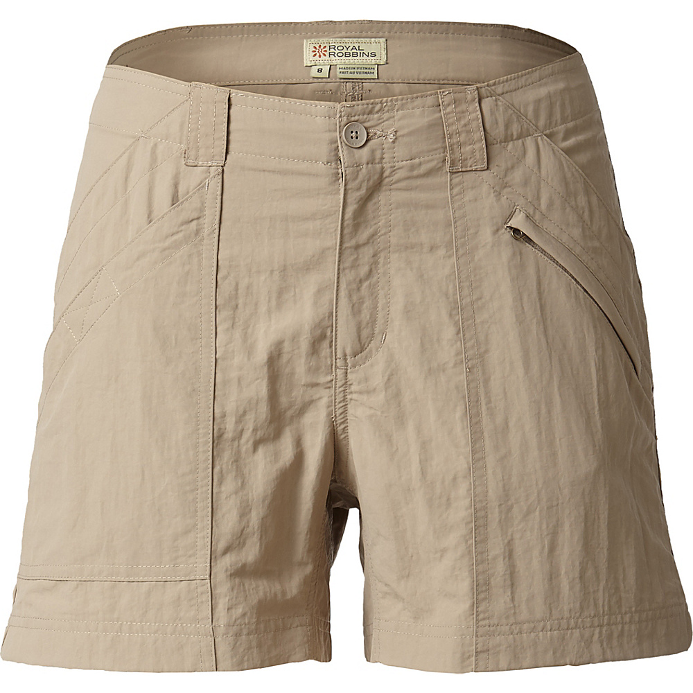 Royal Robbins Womens Backcountry Shorts 2 - Khaki - Royal Robbins Womens Apparel - Apparel & Footwear, Women's Apparel