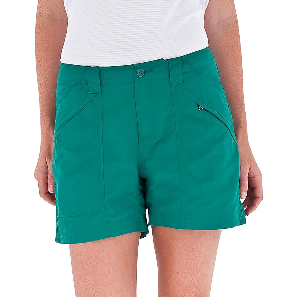 Royal Robbins Womens Backcountry Shorts 16 - Sea Glass Green - Royal Robbins Womens Apparel - Apparel & Footwear, Women's Apparel