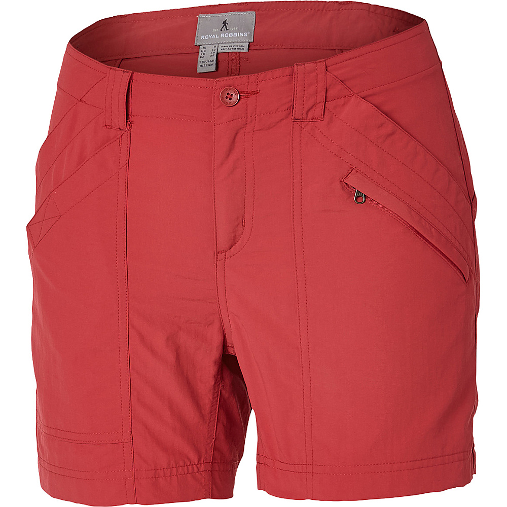 Royal Robbins Womens Backcountry Shorts 6 - Candy Apple - Royal Robbins Womens Apparel - Apparel & Footwear, Women's Apparel