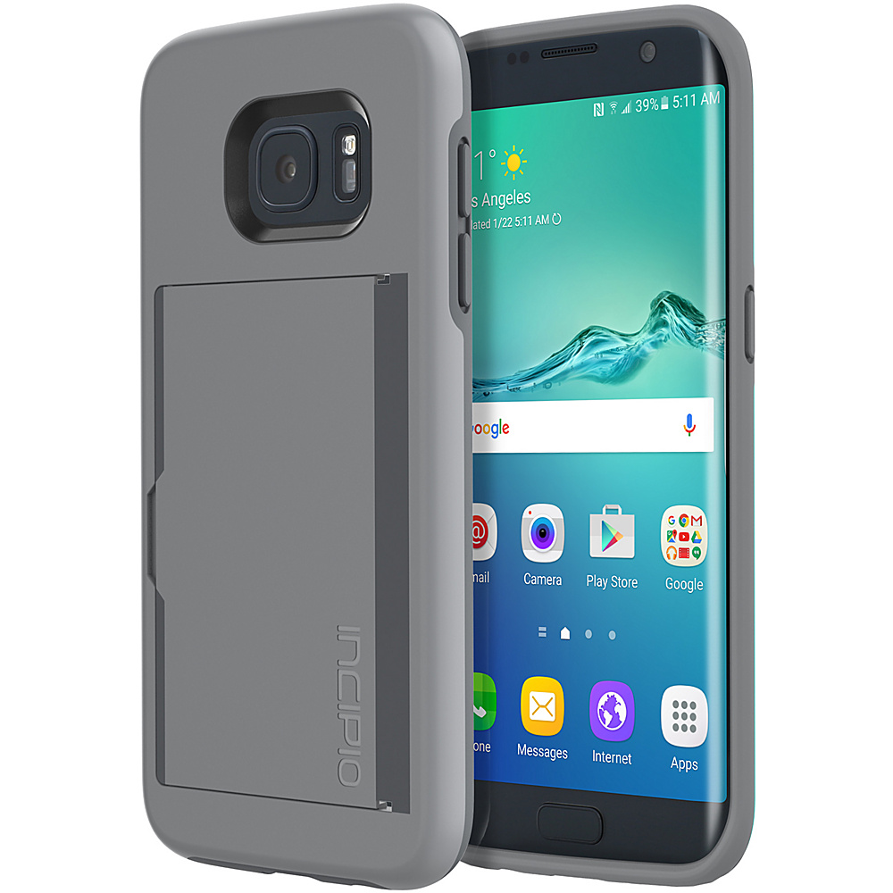 Incipio Stowaway for Samsung Galaxy S7 Edge Gray - Incipio Electronic Cases - Technology, Electronic Cases