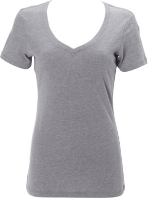 Simplex Apparel CVC Womens Deep V Tee S - Dark Heather Grey - Simplex Apparel Women's Apparel