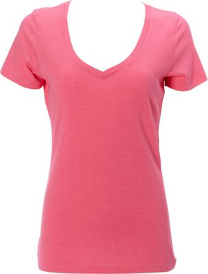 Simplex Apparel CVC Womens Deep V Tee 2XL - Hot Pink - Simplex Apparel Women's Apparel