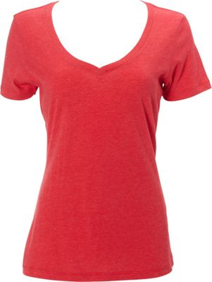 Simplex Apparel CVC Womens Deep V Tee L - Red - Simplex Apparel Women's Apparel