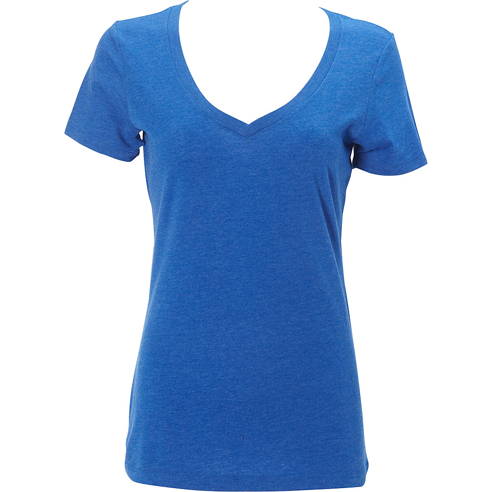Simplex Apparel CVC Womens Deep V Tee L - Royal - Simplex Apparel Womens Apparel - Apparel & Footwear, Women's Apparel