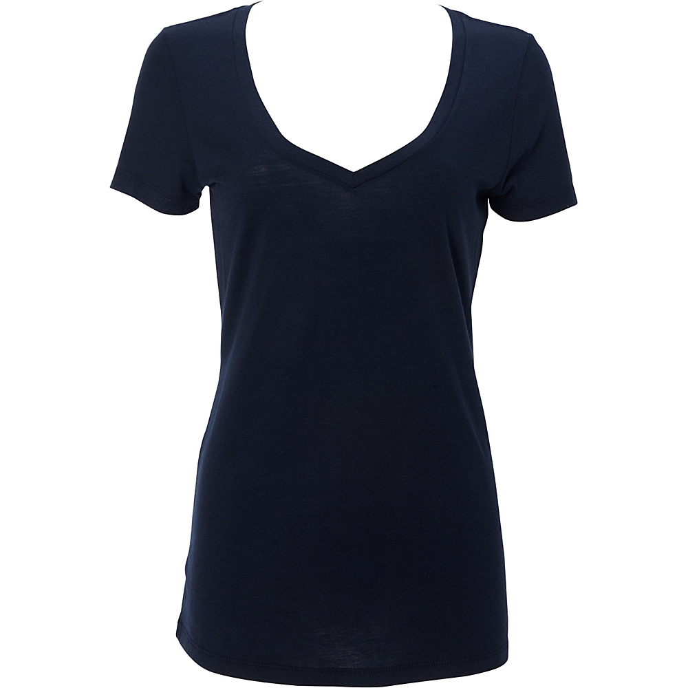 Simplex Apparel Modal Womens Deep V Tee L - Navy - Simplex Apparel Womens Apparel - Apparel & Footwear, Women's Apparel