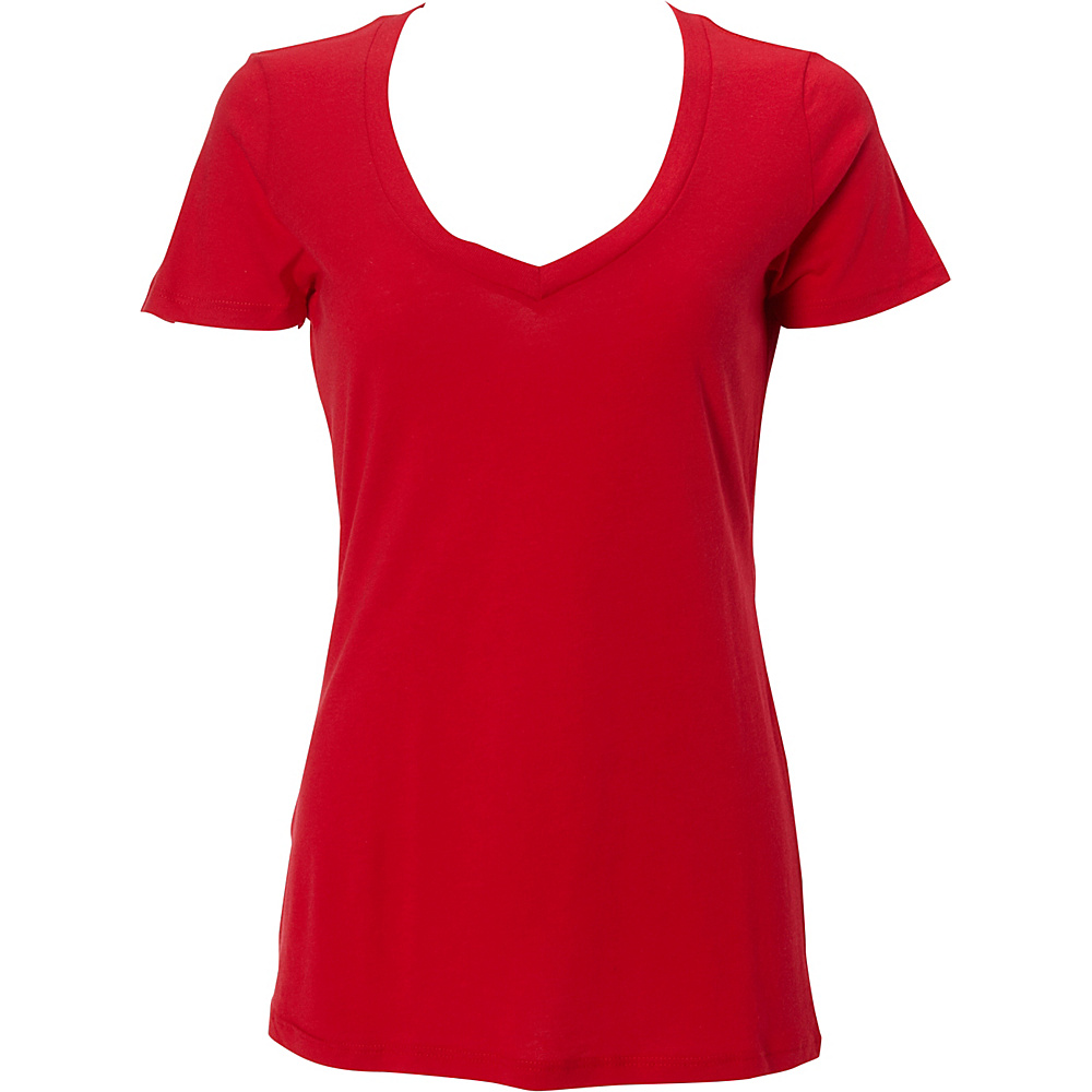 Simplex Apparel Modal Womens Deep V Tee 2XL - Red - Simplex Apparel Womens Apparel - Apparel & Footwear, Women's Apparel