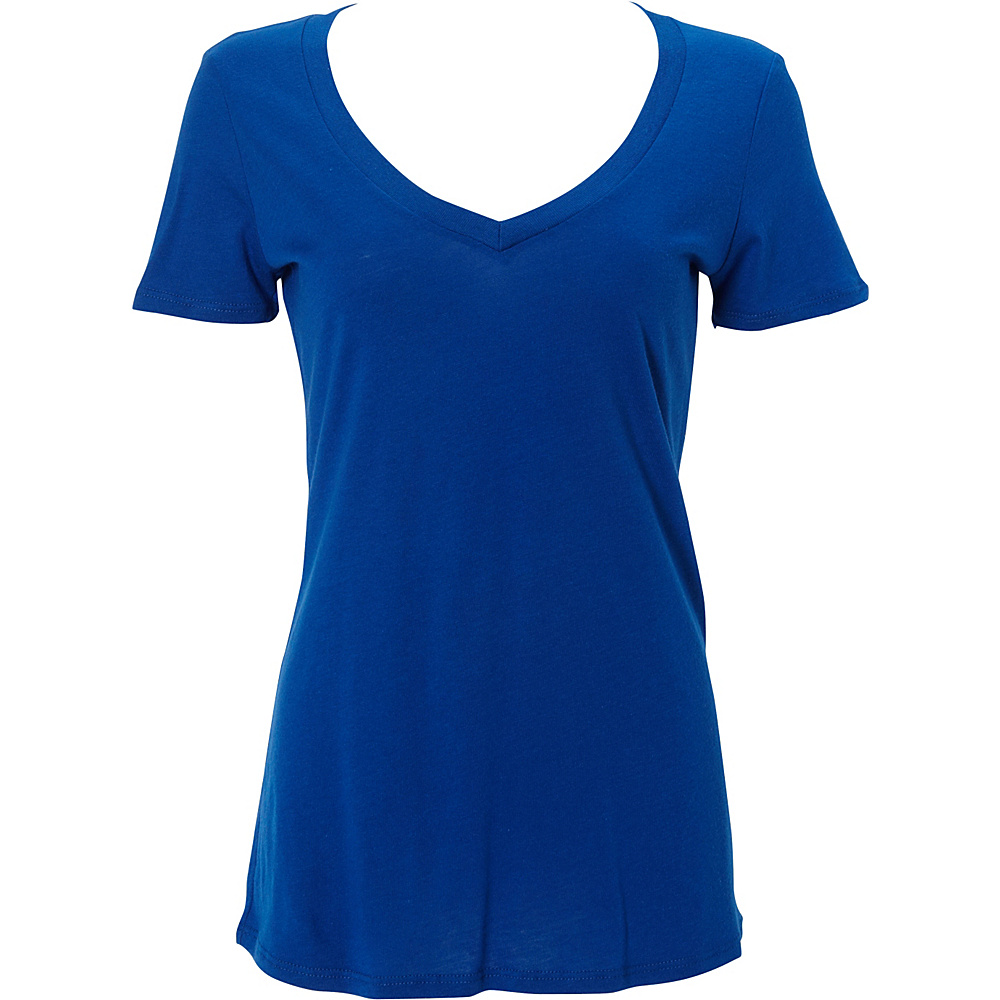 Simplex Apparel Modal Womens Deep V Tee S - Royal - Simplex Apparel Womens Apparel - Apparel & Footwear, Women's Apparel