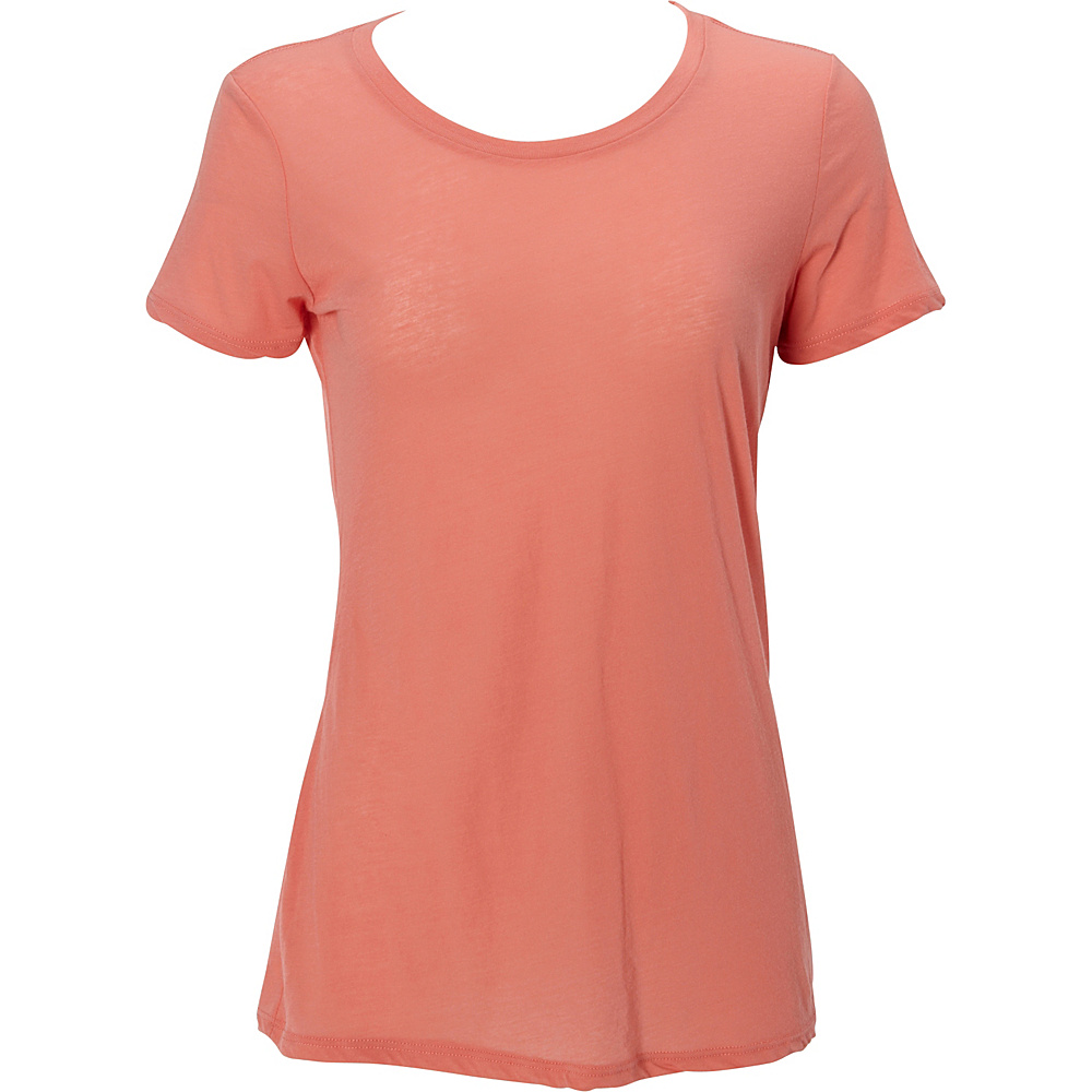 Simplex Apparel Boutique Womens Crew Tee S - Coral - Simplex Apparel Womens Apparel - Apparel & Footwear, Women's Apparel
