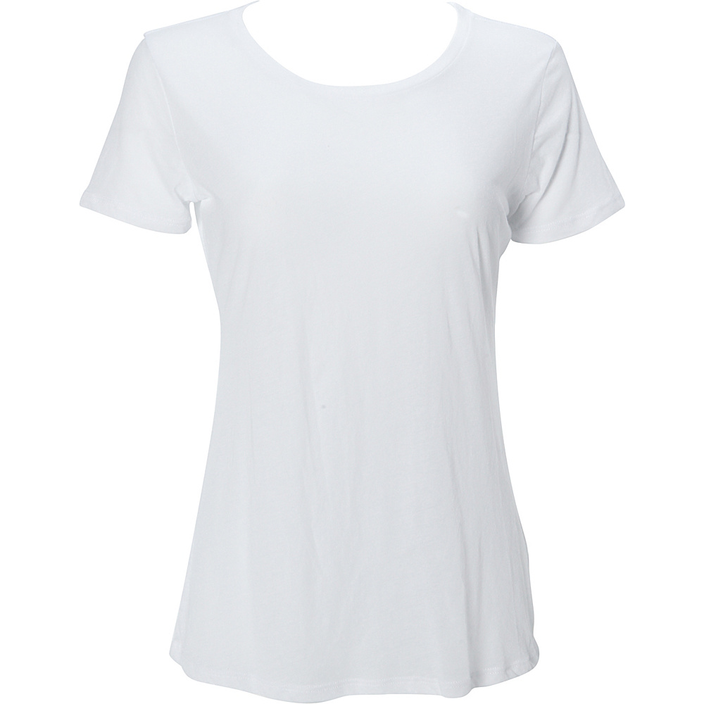 Simplex Apparel Boutique Womens Crew Tee L - White - Simplex Apparel Womens Apparel - Apparel & Footwear, Women's Apparel