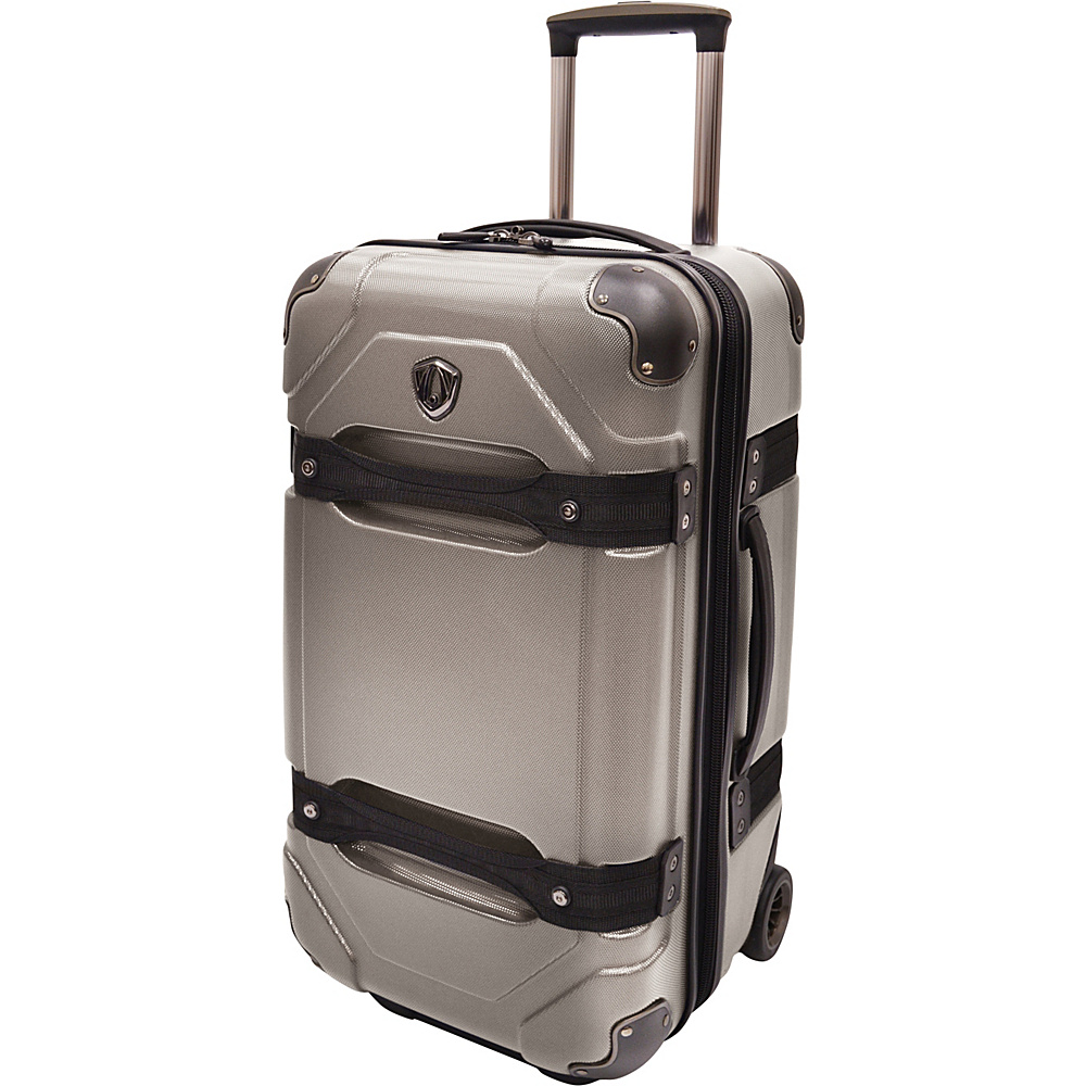 Traveler s Choice 24 Polycarbonate Hardside Rolling Trunk Luggage Charcoal Traveler s Choice Hardside Checked