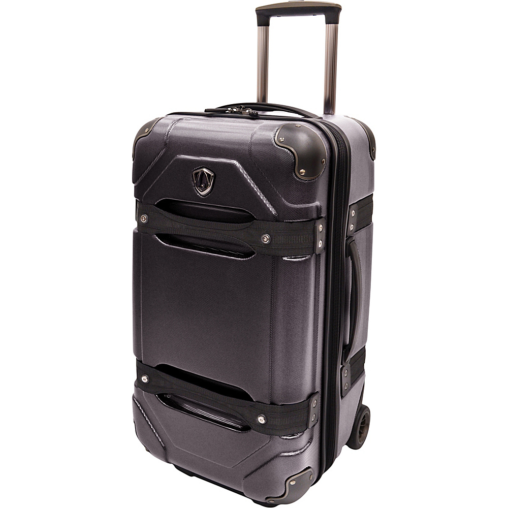 Traveler s Choice 24 Polycarbonate Hardside Rolling Trunk Luggage Black Traveler s Choice Hardside Checked