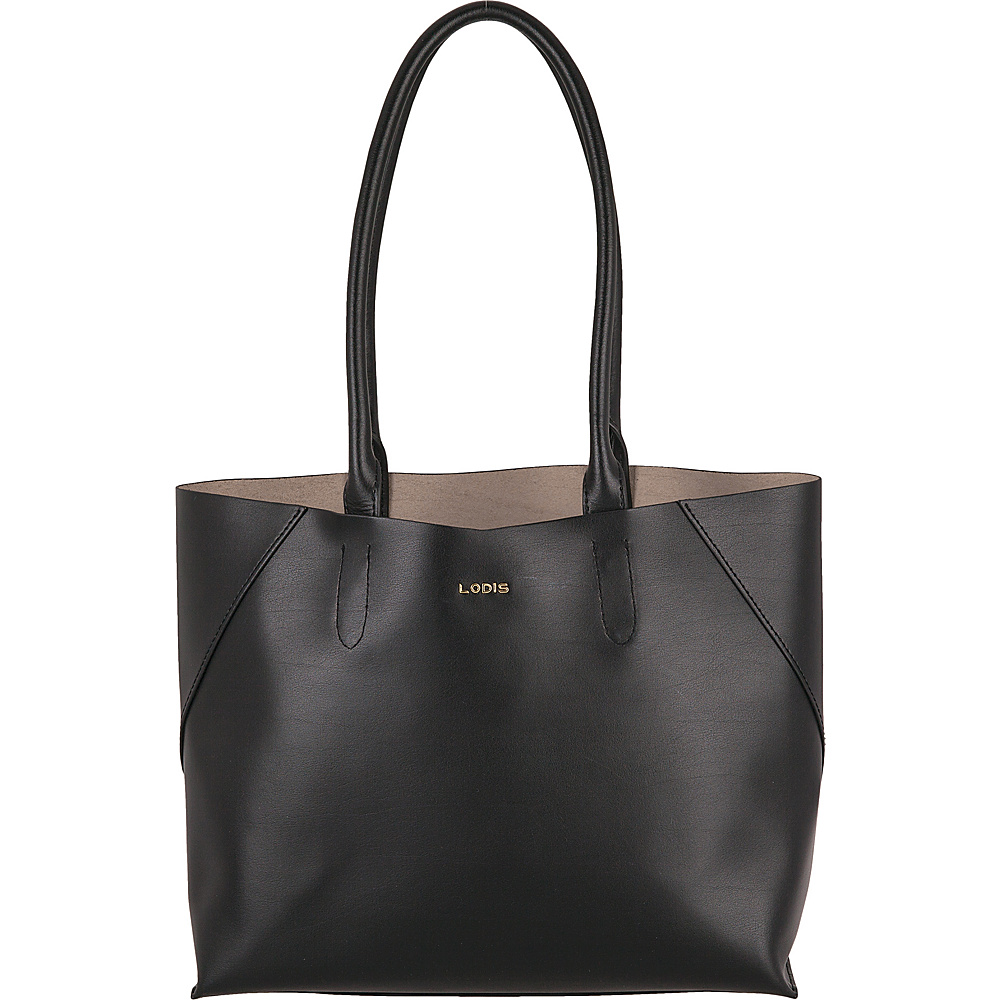 Lodis Blair Cynthia Tote Black/Taupe - Lodis Leather Handbags - Handbags, Leather Handbags