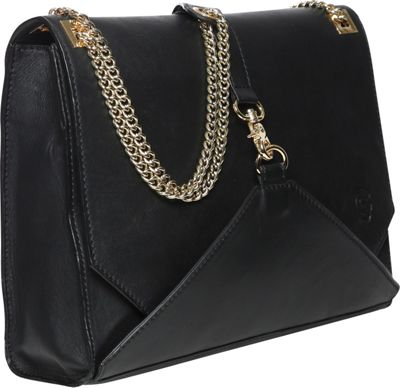 Gregory Sylvia Natalia Shoulder Bag Black - Gregory Sylvia Leather Handbags