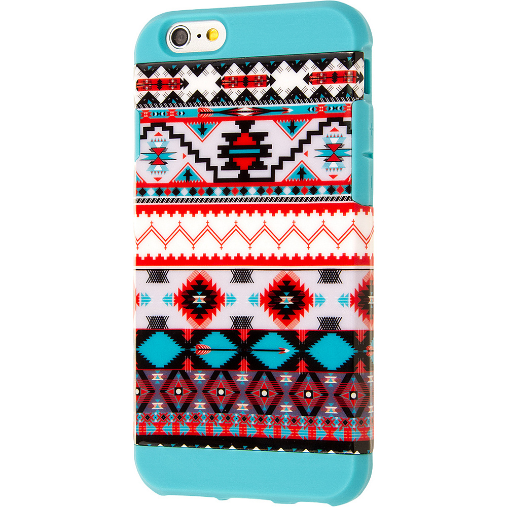 EMPIRE MINX Slim Protection Hybrid Case for Apple iPhone 6 iPhone 6S Teal Tribal Aztec EMPIRE Electronic Cases