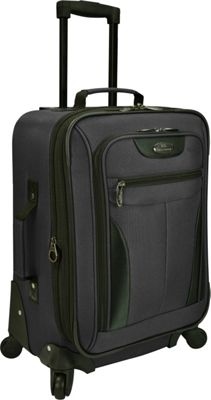 U.S. Traveler Charleville 20 inch Spinner Luggage Black - U.S. Traveler Softside Carry-On