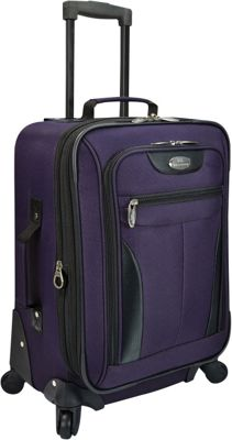U.S. Traveler Charleville 20 inch Spinner Luggage Purple - U.S. Traveler Softside Carry-On