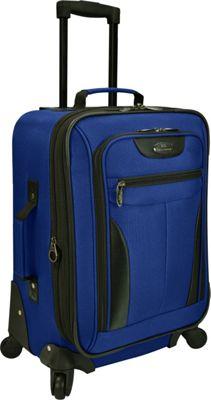 U.S. Traveler Charleville 20 inch Spinner Luggage Blue - U.S. Traveler Softside Carry-On