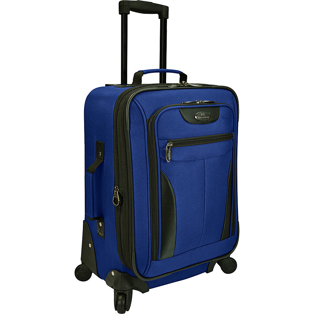 U.S. Traveler Charleville 20 Spinner Luggage Blue U.S. Traveler Softside Carry On