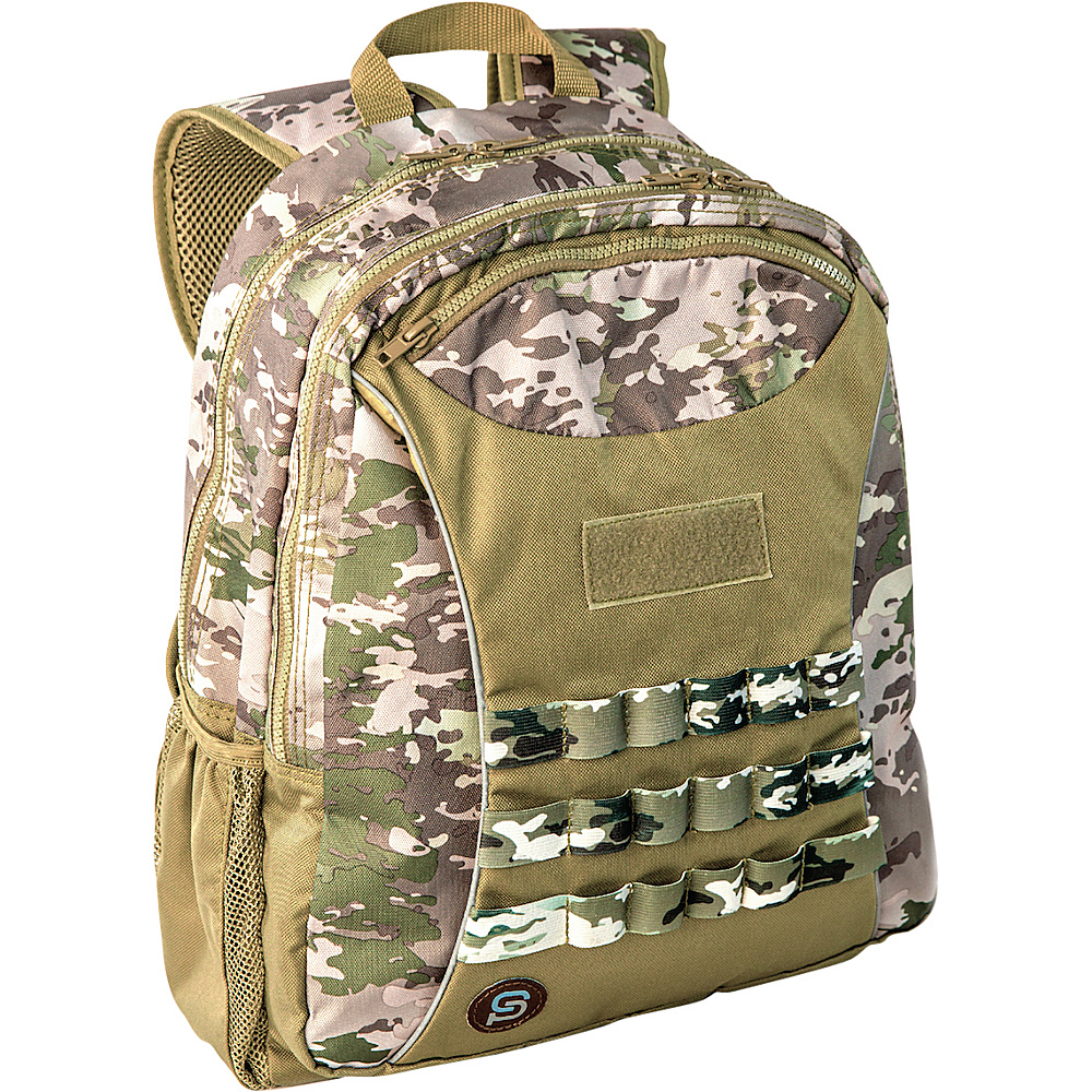 Sydney Paige Buy One Give One Taggart Backpack Green Camo Sydney Paige Everyday Backpacks
