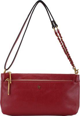 Elliott Lucca Solid 3 Way Demi Crossbody Brick - Elliott Lucca Designer Handbags
