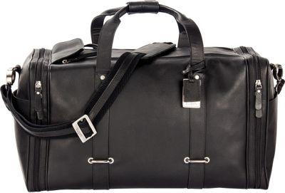 Bugatti Bello  Leather  Duffle Bag Black - Bugatti Travel Duffels
