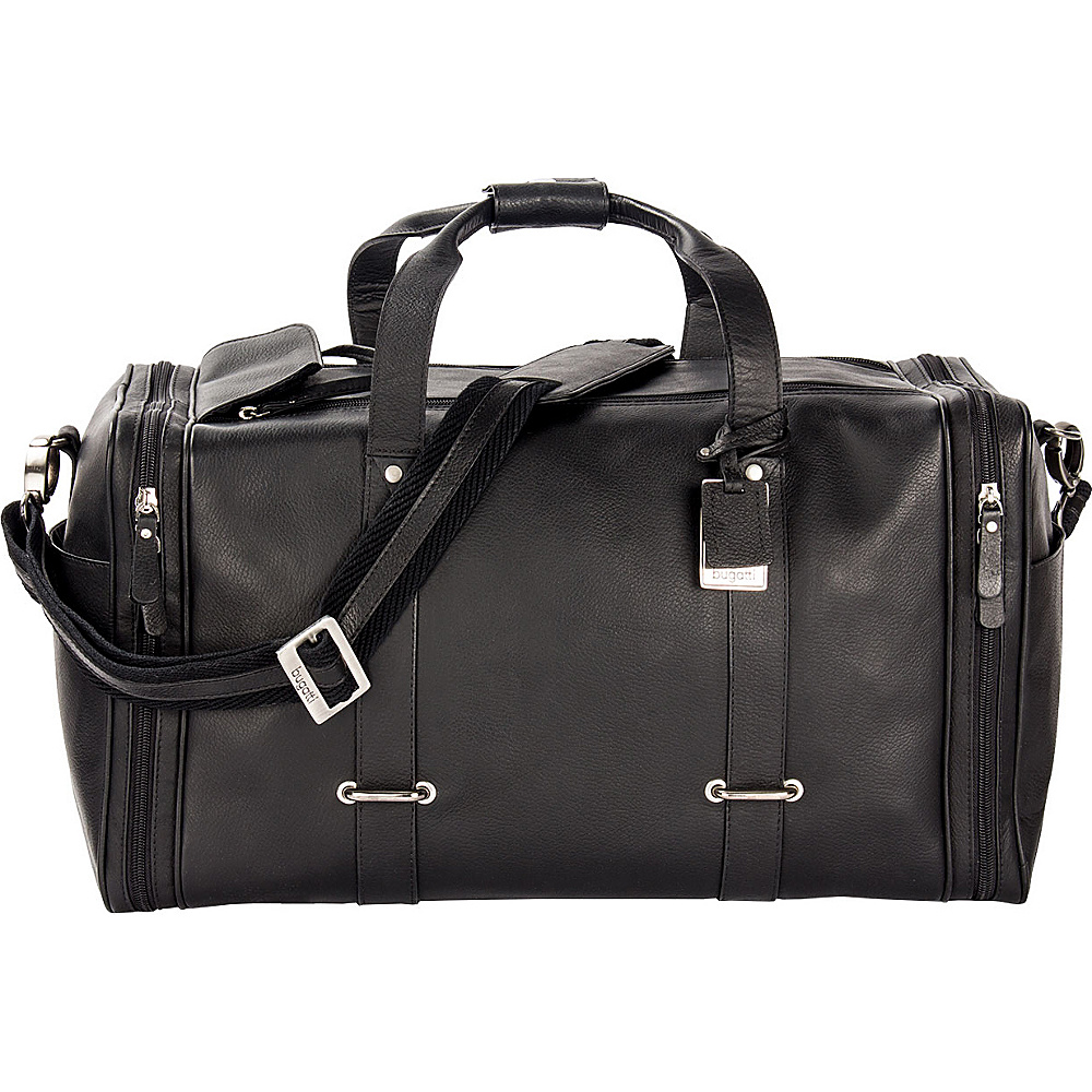 Bugatti Bello Leather Duffle Bag Black Bugatti Travel Duffels