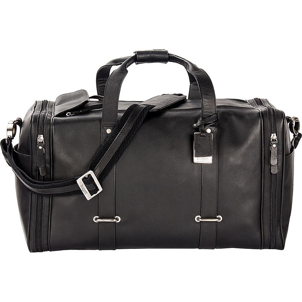 Bugatti Bello Leather Duffle Bag Black Bugatti Travel Duffels