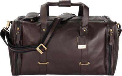 Bugatti Bello  Leather  Duffle Bag Brown - Bugatti Travel Duffels