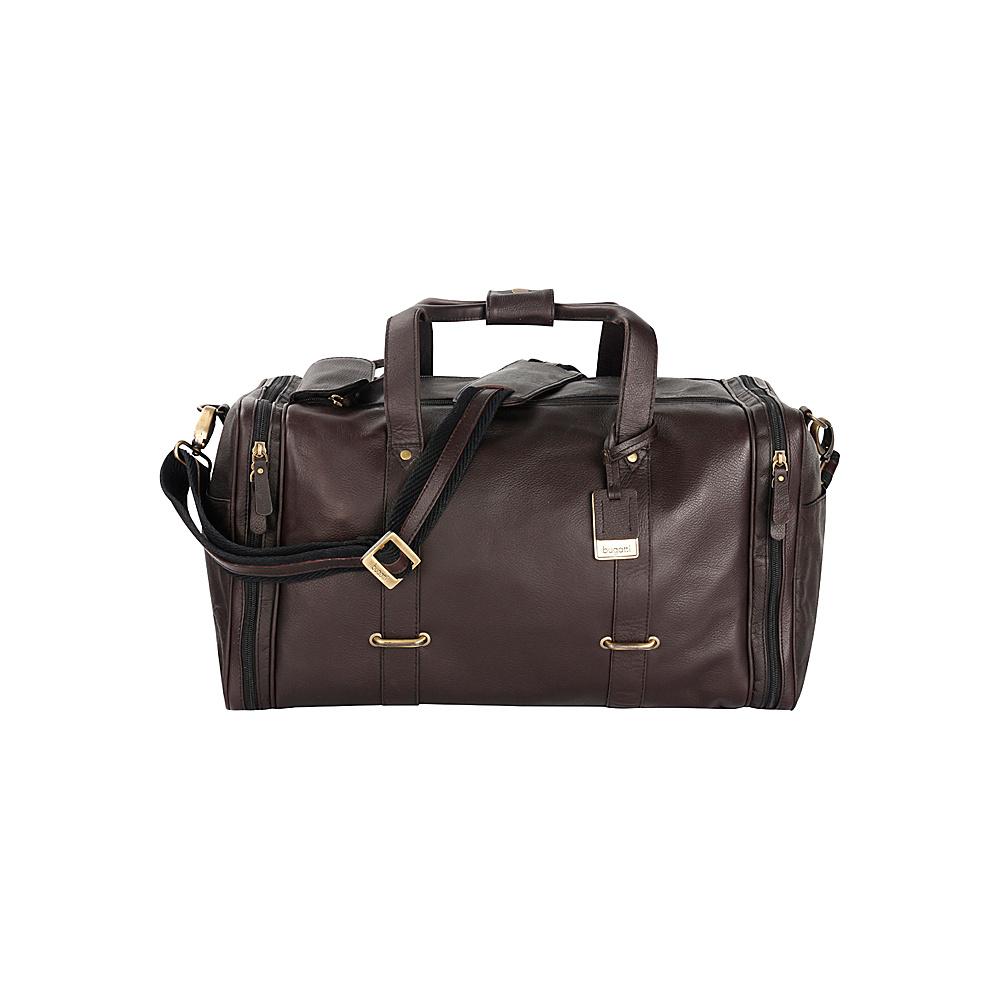 Bugatti Bello Leather Duffle Bag Brown Bugatti Travel Duffels