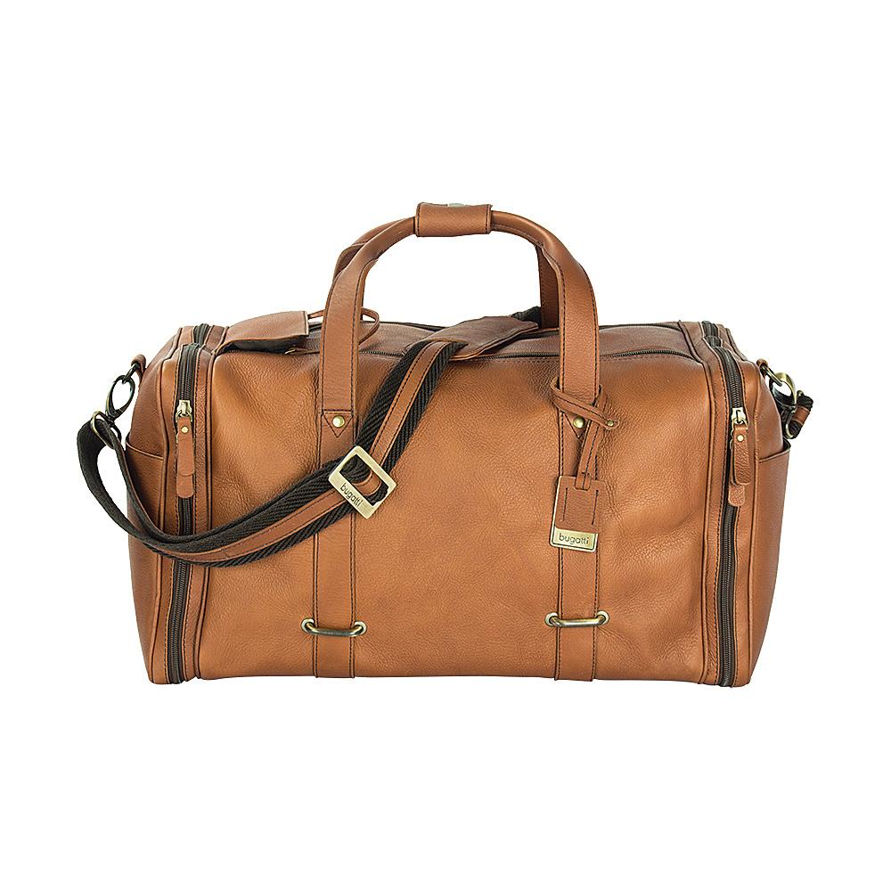 Bugatti Bello Leather Duffle Bag Cognac Bugatti Travel Duffels